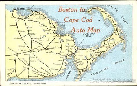 Boston To Cape Cod Auto Map Massachusetts