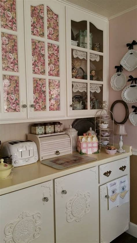 shabby chic painted kitchen cabinets kitchens cabinets and shabby on 7911