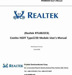 Realtek Semiconductor Rtl8822ce 802 11a  B  G  N  Ac Rtl8822ce