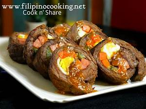 Beef Morcon Cook n' Share World Cuisines