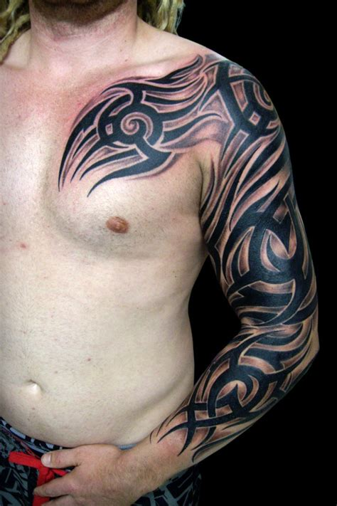 beautiful full sleeve tribal tattoos  tribal