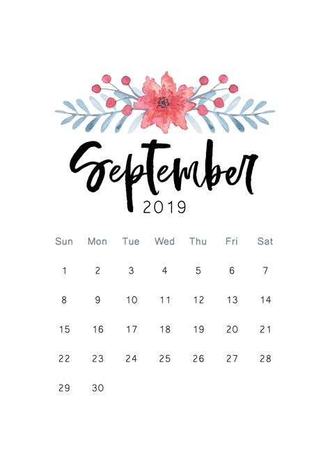 september printable calendar cactus creative calendar