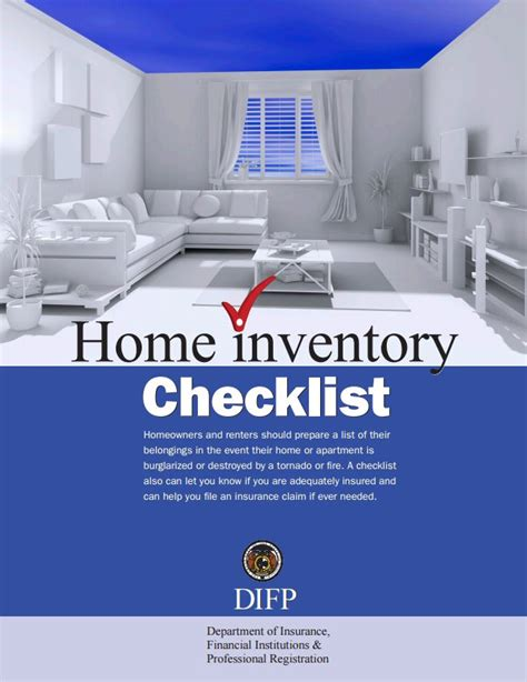 home inventory checklist missouri department