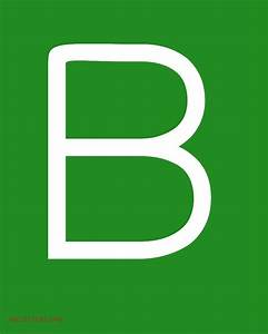 Large ABC Letters White Green | ABC Letters Org
