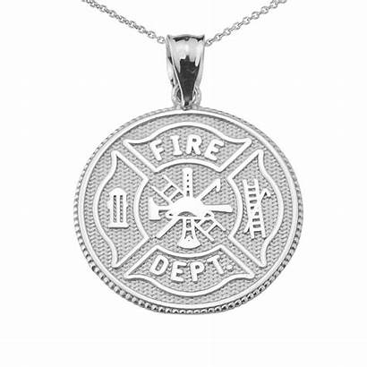 Maltese Cross Necklace Pendant Firefighter Solid Pendants