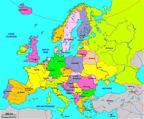Carte Europe Et Capitale by Europe Carte Capitales Arts Et Voyages