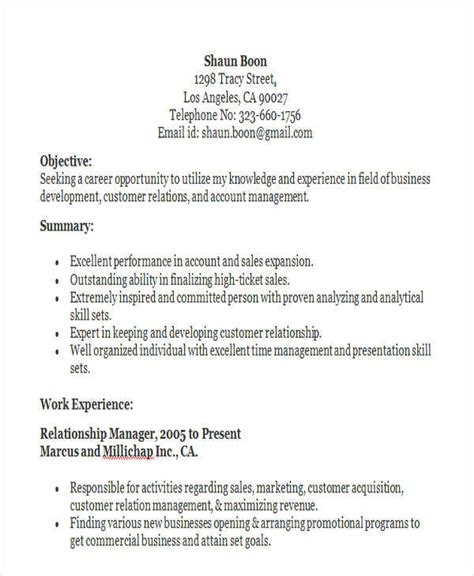 client relationship manager resume sle 28 images sle