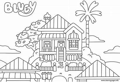 Bluey Coloring Pages Colouring Printable Sheet Beach