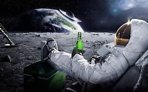 space, Astronaut, Meteors, Earth, Beer, Carlsberg ...