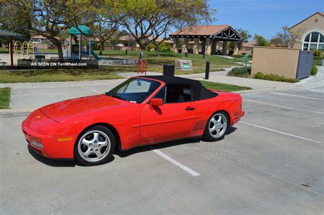 convertible porsche red 1989 porsche 944 s2 cabriolet convertible guards red