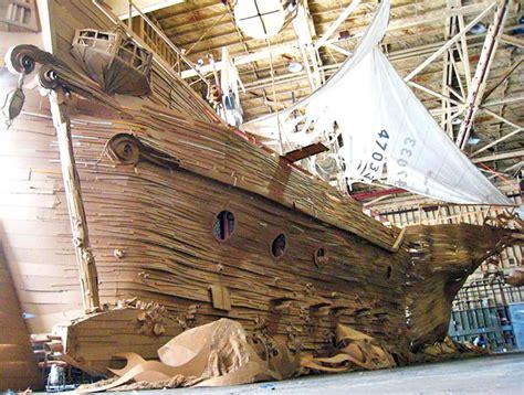 Pirate Ship Cardboard Boat by Cardboard Ghostship 171 Inhabitat Green Design Innovation