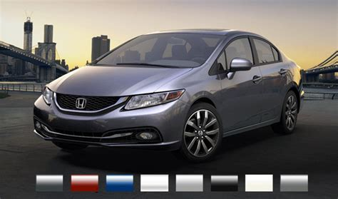 honda civic colors 2015 honda civic sedan exterior colors fisher honda