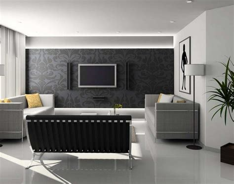 tips interior ruang tamu minimalis konsep hitam putih
