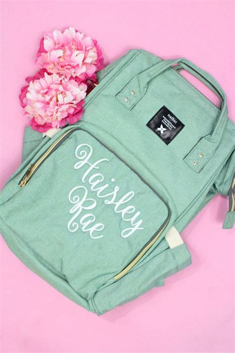 monogram backpack diaper bag nappy diaper bag insulated monogram diaper bag girl diaper bag