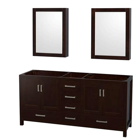 vanity mirror medicine cabinet wyndham collection sheffield 72 in double vanity cabinet