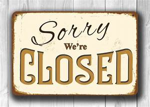 Vintage Open Closed Sign-Vintage Style Classic Metal Signs