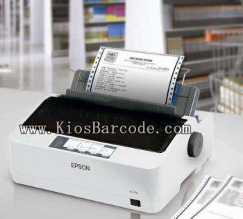 printer epson dot matrix lx 310 kios barcode