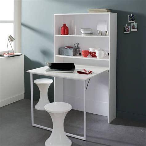 bureau escamotable murale lit mezzanine avec plan de travail étagères bureaux et