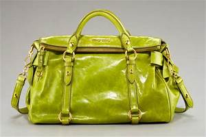 Miu Miu shall not be left out of this whole lime green