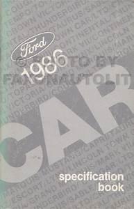 1986 Fomoco Repair Shop Manualvols B  U0026 D Mustang  Ltd  Thunderbird Cougar  Capri  Marquis