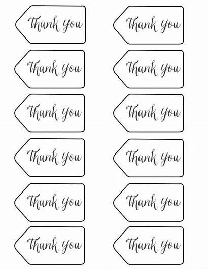Thank Tags Printables Printable Template Tag Gift