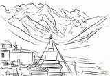 Everest Mount Coloring Mountain Pages Printable Mountains Canyon Grand Lonely Drawing Android Drawings Categories Crafts Creative sketch template