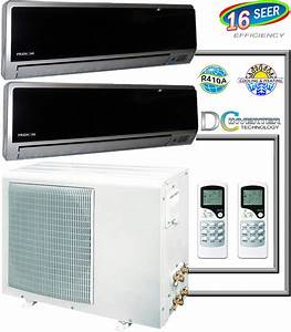 24 000 Btu Dual Zone Inverter Mini Ductless Split Air