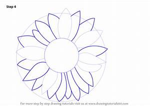 How To Draw A Sunflower Step By Step Easy | www.imgkid.com ...