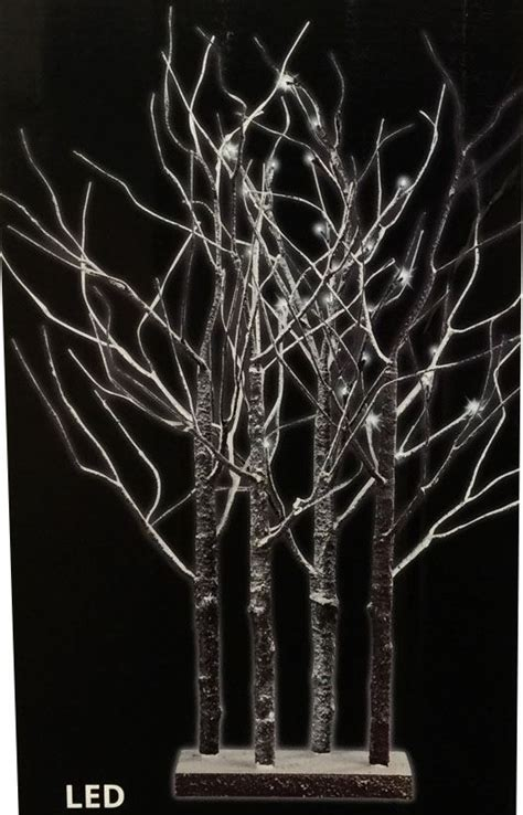 Pre Decorated Christmas Trees Delivered by Pre Lit Led Birch Twig Tree 90cm Christmas Tree Indoor