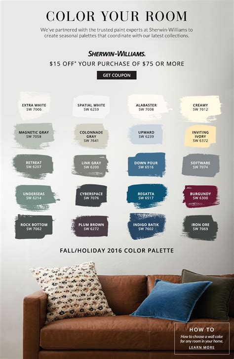 color your room pottery barn sherwin williams home