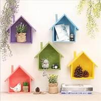 creative home decorations Creative retro wooden wall shelves living room bedroom DIY ...