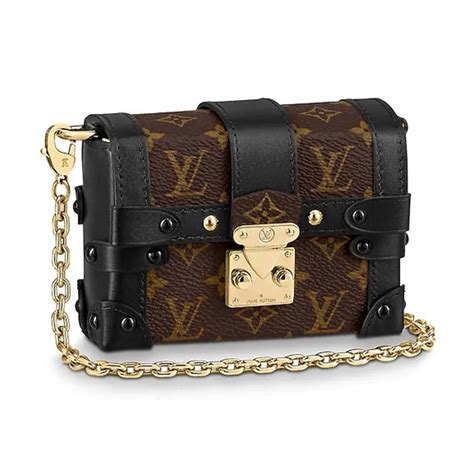 louis vuitton lv women essential trunk bag  monogram coated canvas lulux