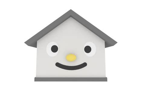 real estate free キャラクター 家 ホーム かわいい 3dcg 住宅 顔 無料画像 デザイン素材 イラスト