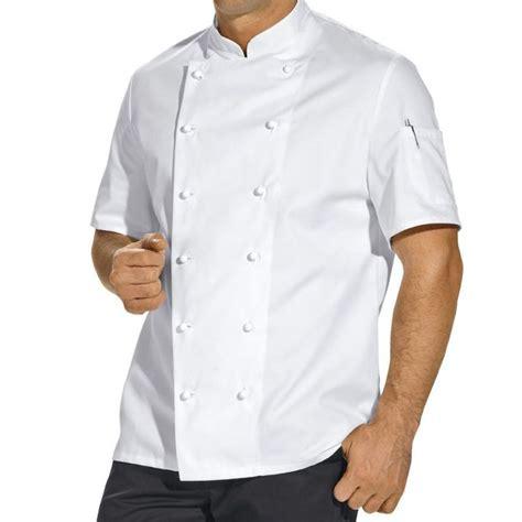 veste de cuisine manches courtes poche sur la manche
