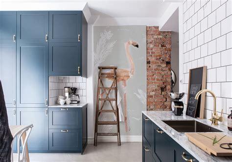 cuisine 2 couleurs cuisine bleue découvrez toutes nos inspirations