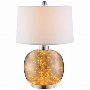 glenlowe cognac glass led table lamp with night light With glass table lamp and night light