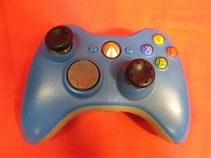 Microsoft Brand Wireless Controller Blue For Xbox 360