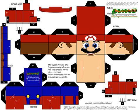 mario papercraft toy  printable papercraft templates