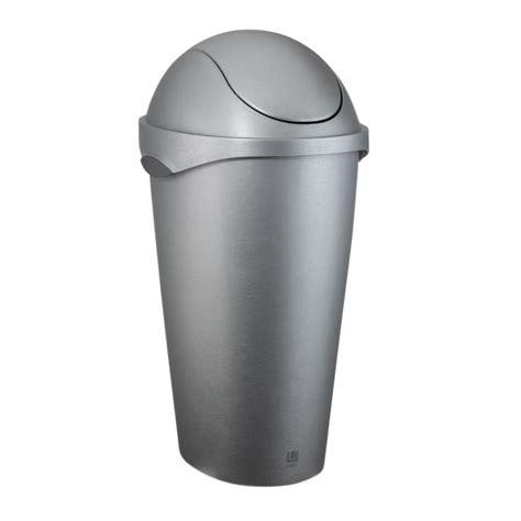 umbra swinger  gal plastic waste basket    home depot