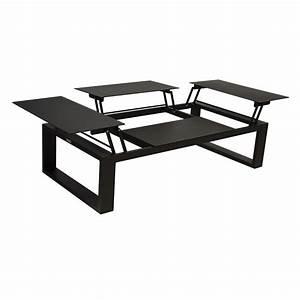 Table Basse Avec Plateau Relevable : table basse avec plateau relevable zendart outdoor zendart design ~ Teatrodelosmanantiales.com Idées de Décoration