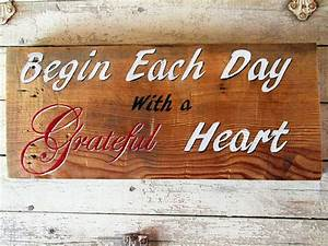 Online, Store, Inspirational, Wood, Signs, Sayings, Quotes, Wall, Home, Decor, Begin, Each, Day, With, A
