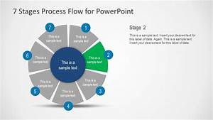 7 Stages Process Flow Diagram For Powerpoint