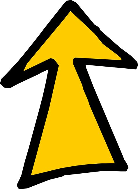 Up Clipart Arrow Yellow Free Stock Photo Illustration Of A Yellow