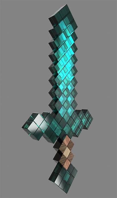 Minecraft Diamond Sword Background Render 1920 None