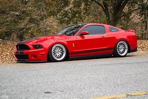 """Red Ford Mustang GT500 S197 - CCW 19"""" Classic 2 Wheels in Polished Aluminum"""