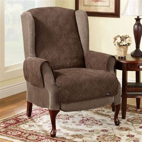 Wing Chairrecliner Furniture Cover by Soft Suede Pet Throw Wing Chair Recliner Cover At