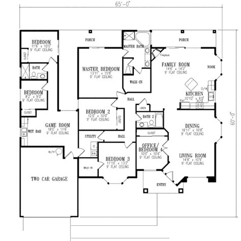 6 Bedroom House Plans by Mediterranean Style House Plan 6 Beds 3 Baths 2511 Sq Ft