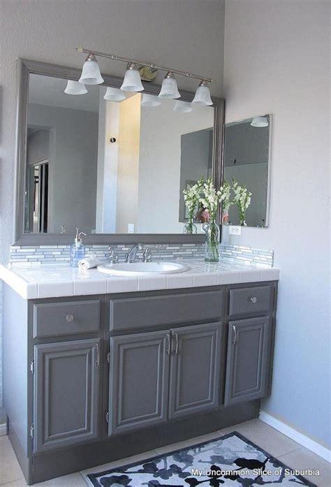 Bathroom Vanity Backsplash Ideas by 27 Grey Bathroom Vanity Backsplash Ideas