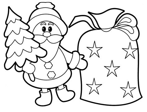 easy preschool coloring pages 613 | Christmas Printable Preschool Coloring Pages