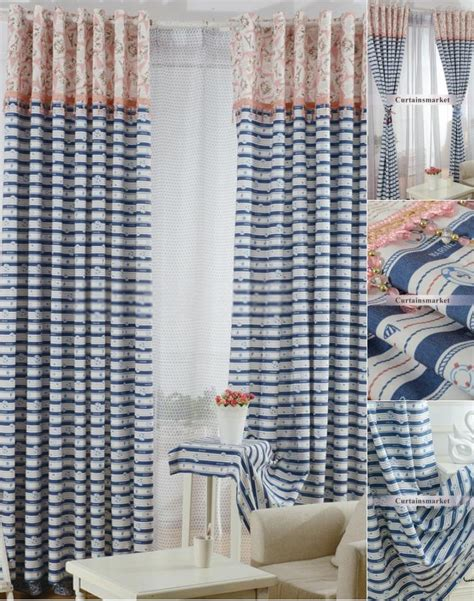 navy and white striped curtains uk curtain menzilperde net